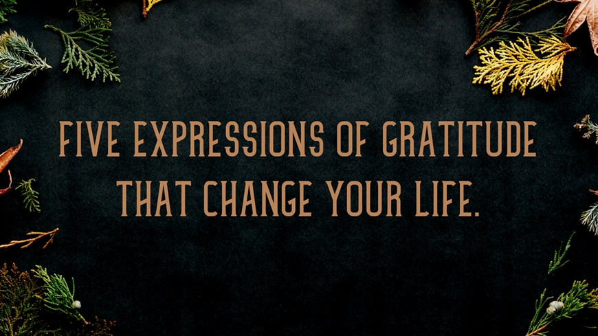 Five Expressions of Gratitude That Change Your Life