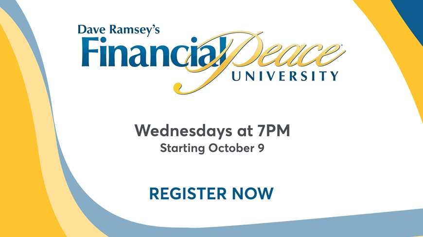 Register Now for Financial Peace University