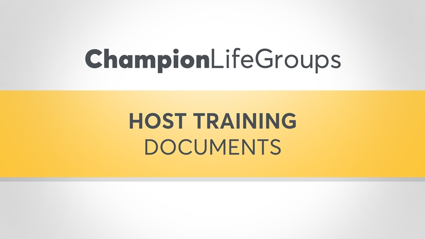 Host Training Documents Cover