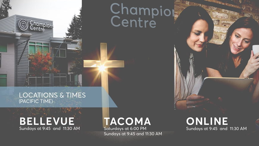 Weekend Services at ChampionsCentre